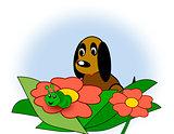 Dog and Caterpillar