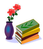 Books and Hibiscus
