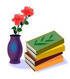 Books and Hibiscus