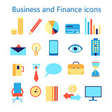 Vector icons set for business and finance web application