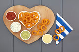 Onion Rings and Dips