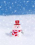 Cute little snowman