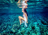 Beautiful dance underwater
