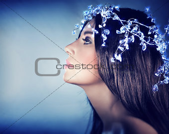 Beautiful snow queen portrait