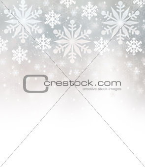 Beautiful snowflakes border