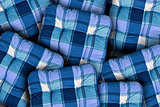 Plaid Blue Cushions