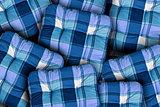 Plaid Blue Cushions