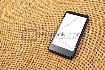 Smartphone on desktop