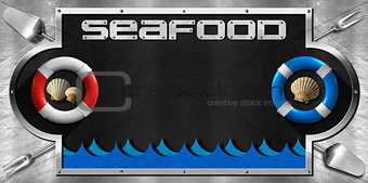 Blackboard for Seafood Menu