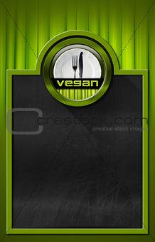 Blackboard with Vegan Symbol