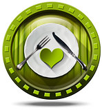 Healthy Food - Green Icon
