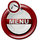 Restaurant Menu - Round Red Icon