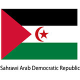 Flag  of the country  sahrawi arab democratic republic. Vector i
