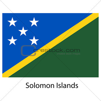 Flag  of the country  solomon islands. Vector illustration.