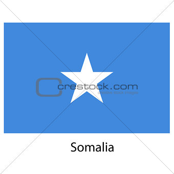 Flag  of the country  somalia. Vector illustration.