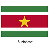 Flag  of the country  suriname. Vector illustration.