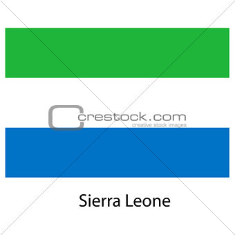 Flag  of the country  sierra leone. Vector illustration.