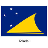 Flag  of the country  tokelau. Vector illustration.