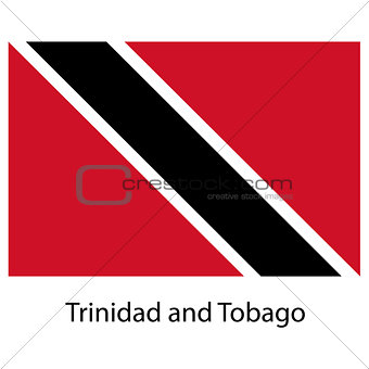 Flag  of the country trinidad and tobago. Vector illustration.