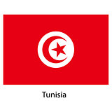 Flag  of the country  tunisia. Vector illustration.