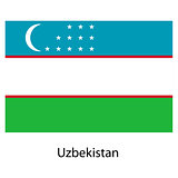 Flag  of the country  uzbekistan. Vector illustration.