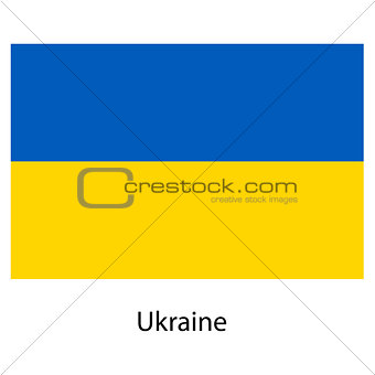 Flag  of the country  ukraine. Vector illustration.