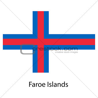 Flag  of the country  faroe islands. Vector illustration.
