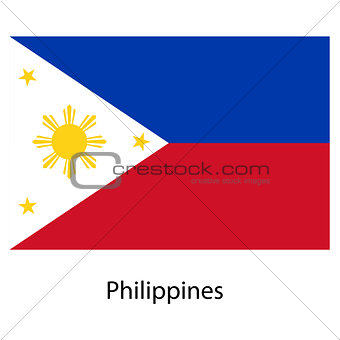 Flag  of the country  philippines. Vector illustration.