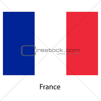 Flag  of the country  franse. Vector illustration.