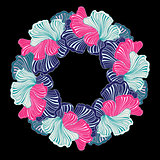 wreath of abstract floral elements