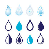 Set different graphics water drops