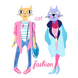 fashion funny cats
