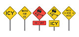 Icy Road Signs