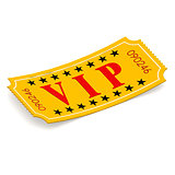 VIP ticket on white background