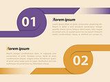 Curling ribbon infographics