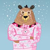 big bear hipster