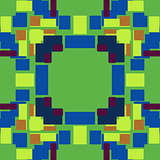 Green and Blue Pixel Background