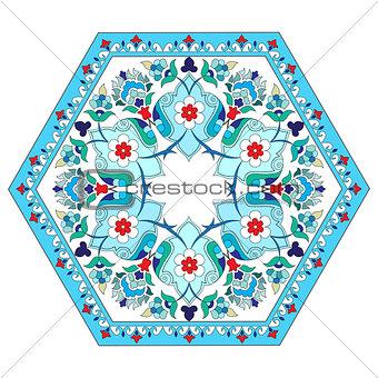 artistic ottoman pattern series five