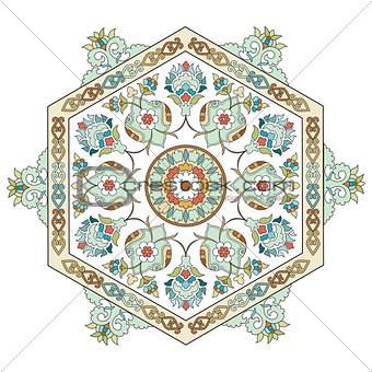 artistic ottoman pattern series one