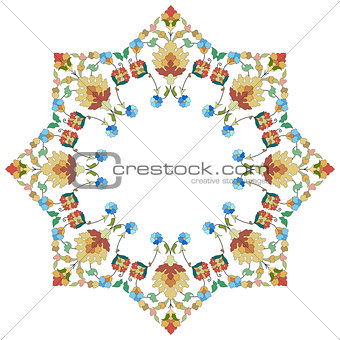 artistic ottoman pattern series thirty five