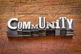community in metal type