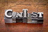 contest in metal type