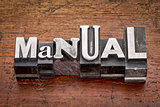 manual in metal type