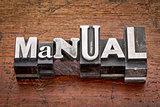 manual in metal type