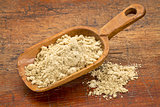 scoop of rice bran
