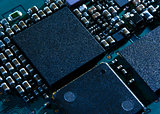 Close up Image of Electronic Circuit Board with Processor