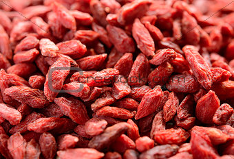 Background of Dried Red Goji Berries
