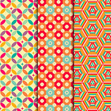 Colored geometric patterns background