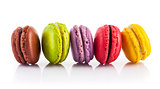 Sweet coloured macaroon dessert