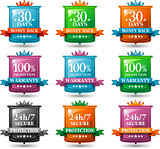 web satisfaction guarantee badges